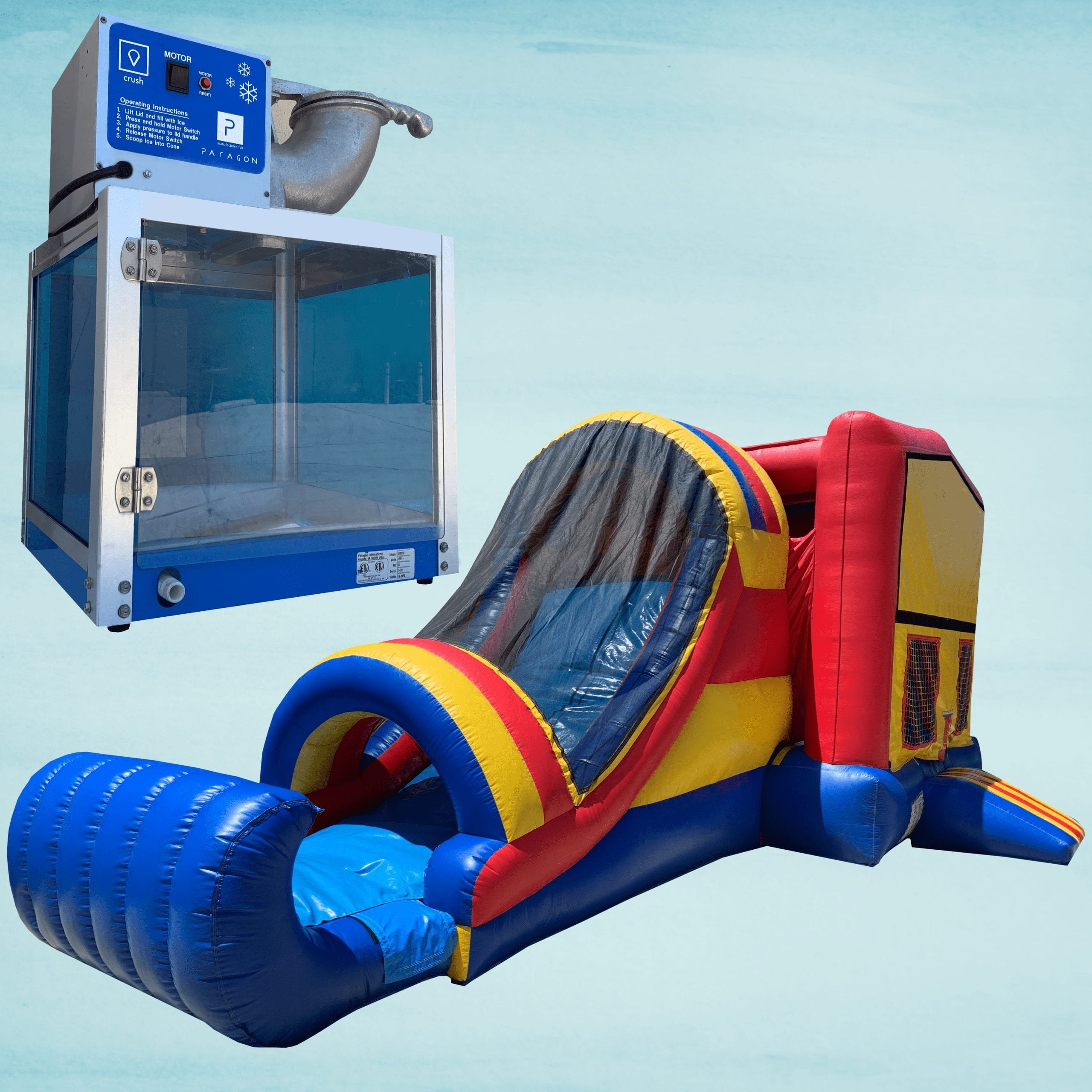 Snow Cone Machine & Bounce N' Slide