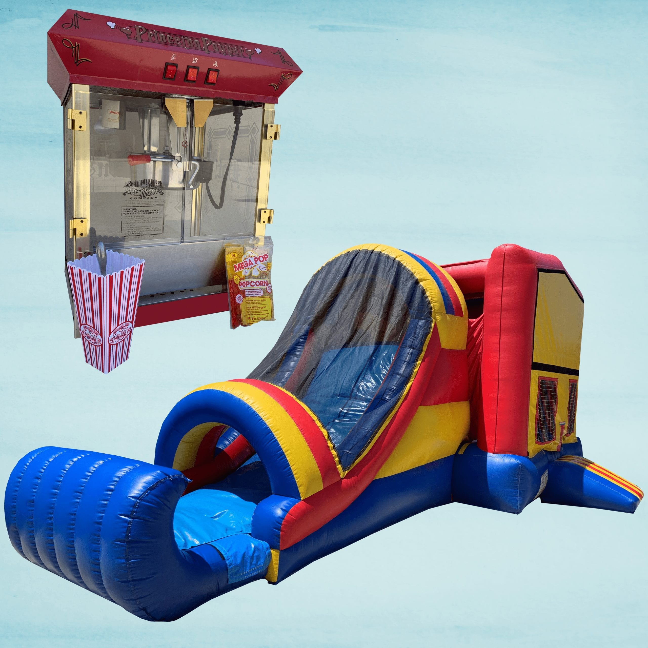 Pop Corn Machine & Bounce N' Slide