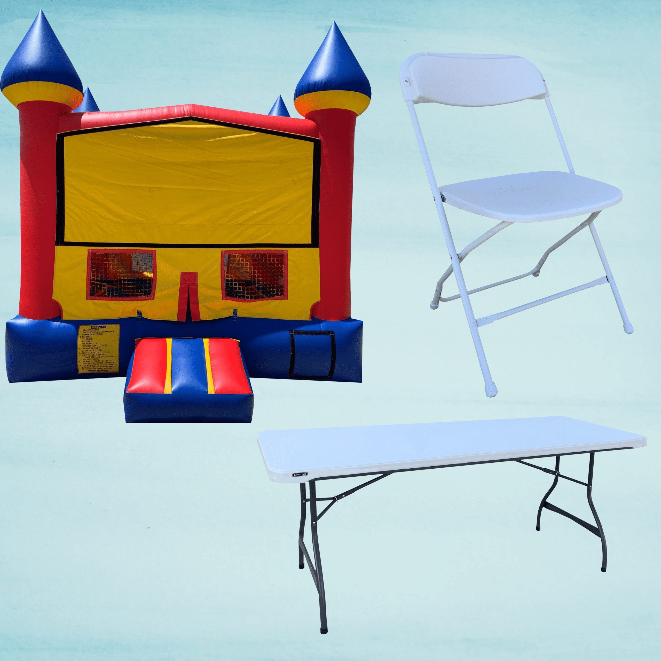 Bounce House & Tables and Chairs
